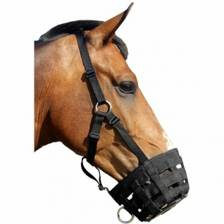 QHP Weidemaske Beweidungs-Maske Weide-Maulkorb mehrfach verstellbar 4 Größen