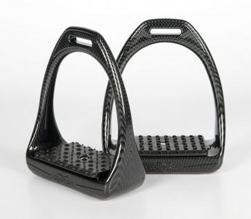 Harry's Horse Steigbügel Compositi Reflex Carbon-Look Polymer schwarz 12 cm