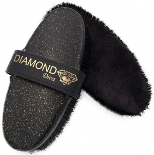 "Haas Glanzbürste "" Diamond Diva"" Lammfell. Rosshaar Band 200x85 mm Diamond Design"