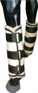 Bandageneinlagen Lammfell Lammfellbandageneinlagen Klettverschlüsse 40 x 32 cm