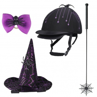QHP Halloween-Set Spider Outfit Spinne 4-teilig f. den ?Süßes oder Saures? Abend