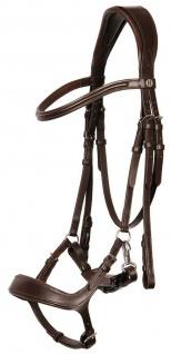 WB Harrys Horse Schwedische Trense Chique Leder Lack Kristalle schwarz Gr