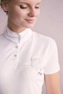 Imperial Riding Damen Turniershirt Laroche kurzarm Stehkragen Strass Gr. XL = 42