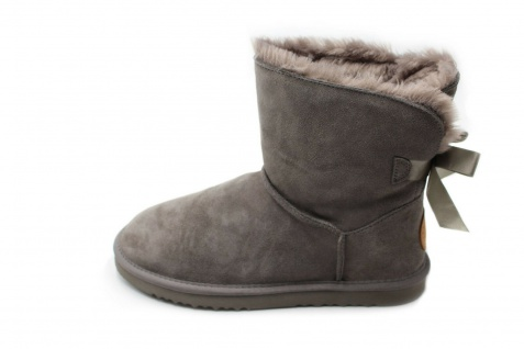 Springstar Damen Boots Xara grau innen wärmendes kuscheliges Kunstfell