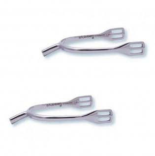 Stübben Damen Schlaufensporen Halslänge 20 mm Edelstahl incl. Leder-Sporenriemen