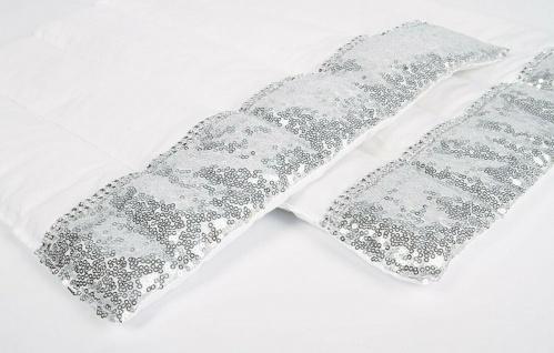 Harry's Horse luxuriöse Bandagenunterlagen Champion mit Pailletten 2er Set weiß