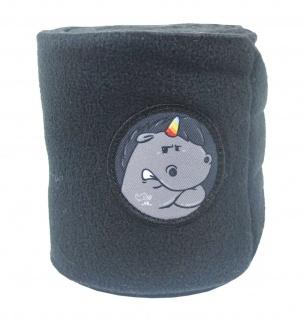 NEU EQuest Bandagen ALPHA FLEECE GRUMMEL -mit Sticker- (2er inkl. Tasche)