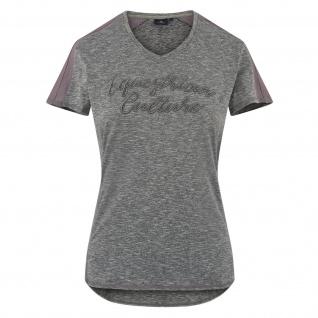 HV Polo Damen T-Shirt Mary kurzarm V-Ausschnitt Logo-Details