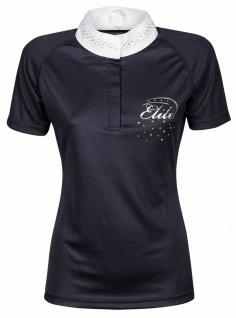 Harry's Horse Damen Turniershirt Elite Crystal kurzarm Stehkragen Strass navy