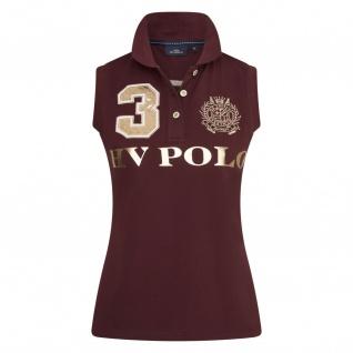 HV POLO Damen Poloshirt Ärmellos Favouritas Luxury Prints Metallic-Optik