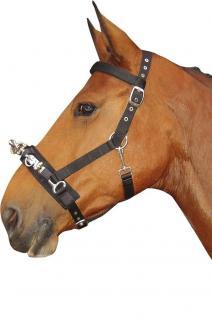 Harry's Horse Kappzaum Schwarz verstellbar Stirn- und Nasenriemen unterlegt 2 Gr - Vorschau 2