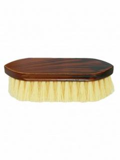 Mähnenbürste Waschbürste kurz braun maseriert 190x50x16 mm Borsten ca.40 mm lang