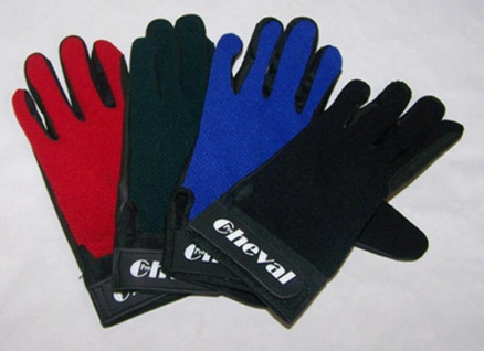 Pro Cheval Sommer-Reithandschuhe Handschuhe Klettverschluss blau Gr. L