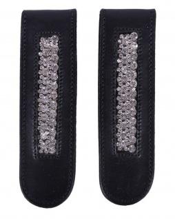 QHP Stiefel-Clip Verbena Leder-Clip mit Strass zum Aufpeppen Ihrer Stiefel