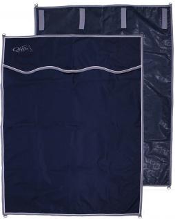 QHP Boxen-Vorhang Stall-Vorhang 4 Klettbänder und 4 D-Ringe navy 140 x 180