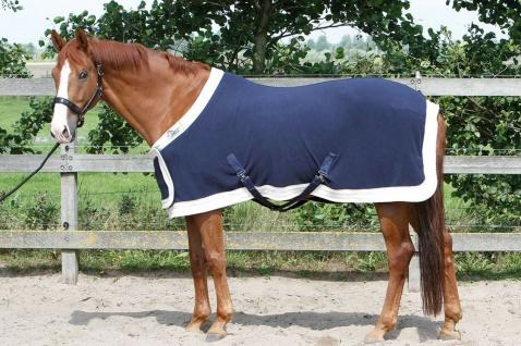 Harry's Horse Fleecedecke Prunkmodell navy Frontverschluss Kreuzgurte