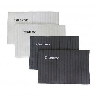 """Bandagierunterlagen """" Countesse"""" Soft 2 Stück ca. 45 x 30 cm weiss + schwarz"""