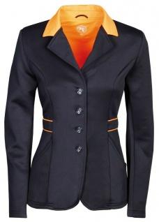 Harry's Horse Damen Turnierjacket Contrast Softshell-Stretch Kragen navy-orange