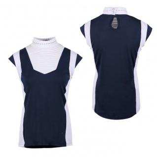 QHP Damen Turniershirt Leanor Stehkragen mit Ziernieten Flügelärmel