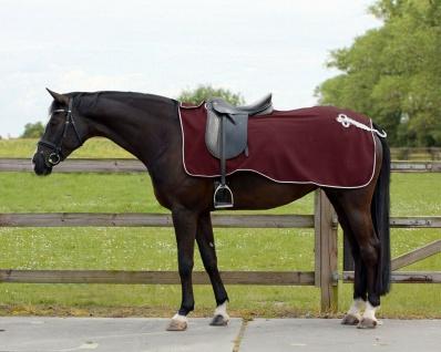 QHP Nierendecke Fleece-Ausreitdecke Ornament Fleecedecke Sattelausschnitt 6 Farb