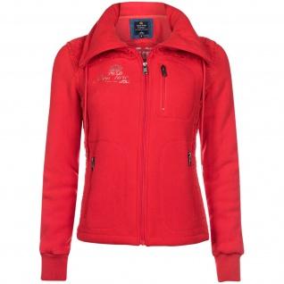 HV Polo Crown Damen Fleece Jacke Linda Prints und Stickereien Bright Red