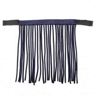 QHP Fliegenfransen mit Klettverschluss schwarz. blau + zebra