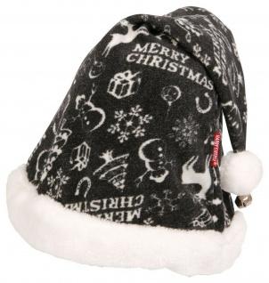 Harry's Horse Weihnachts-Mütze für Reithelm Plüschbommel. Glöckchen. Prints