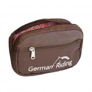 """Gürteltasche """" German Riding"""" 13 x 20 x 5 cm braun separate Außentasche"""