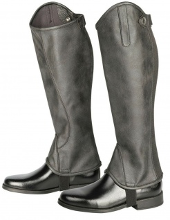 Harry's Horse Luxus Stiefelschaft Minichaps Metallic schwarz Reißverschluss