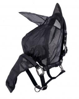 QHP Halfter Fliegenschutzmaske Combi mit Ohren und Nasenschutz feinmaschig 3 Gr.