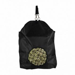 QHP Heutasche Heusack Luxe schwarz robustes Material abnehmbare Schlaufe