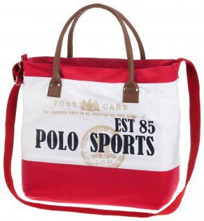 HV POLO Canvas Bag Kenny sportliche Tasche mit Prints und Logo Trageriemen RV