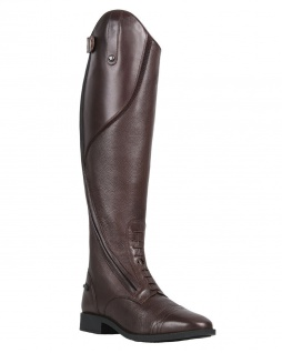 QHP Eleganter Damen Leder-Reitstiefel Tamar normal schwarz + braun Größe 36 - 42