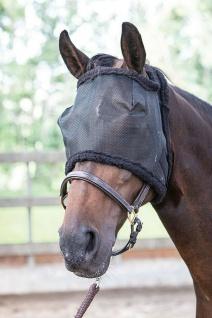 Harry's Horse Fliegenschutzmaske Gesichtsmaske ohne Ohren mit Synthetic Fell