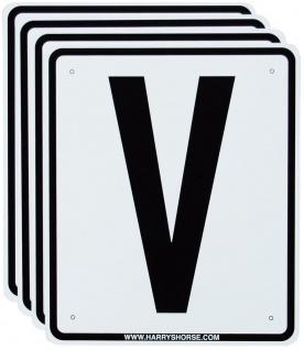 Harry's Horse zusätzliche Bahnschilder für Viereck 20 x 60 m PVC weiß-schwarz