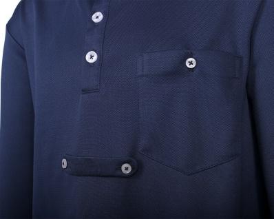 QHP Turniershirt Roald Junior navy langarm mit Button-Down-Kragen - Vorschau 3