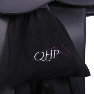 QHP Steigbügel-Abdeckungen Steigbügelschützer Fleece schwarz