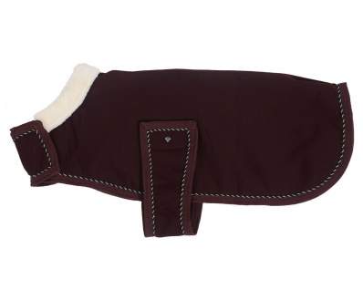 QHP Hundedecke Diamond Hundemantel Softshell mit Kragen aus Kunstfell 2 Farben
