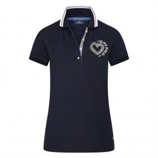 HV POLO Damen Poloshirt HVP Jadore kurzarm. glänzende Verzierung Sommer 2021