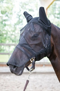 Harry's Horse Fliegenschutzmaske Flyshield mit Ohren und Nasenteil Fliegennetz