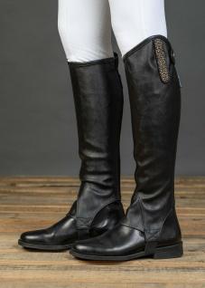 Harry's Horse Luxus Stiefelschaft Minichaps Glamour schwarz Kristall-Einsatz