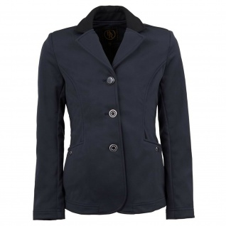 BR Mädchen Turnierjacket Washington Softshell Kragen in Kontrastfarbe blau