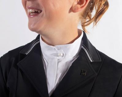 QHP Turniersakko Turnierjacket Andra Junior leicht dehnbar dreifarbige Bänder - Vorschau 5