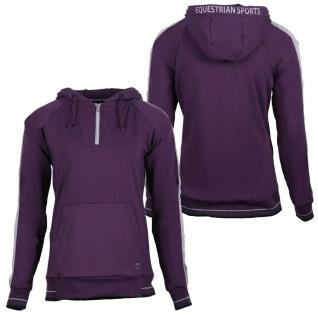 QHP Damen Sweater Hoodie Noleste mit Kapuze kurzer RV 2 Farben Kängurutasche