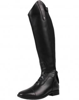 QHP Damen Luxus Leder-Reitstiefel Verena mehr Komfort Größe 36 - 39 weit schwarz