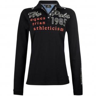 HV POLO Damen langarm Polo-Shirt Martika Prints Stick Logo-Münze