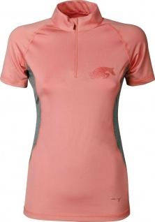 Harry's Horse Damen Shirt Just Ride Rosegold kurzarm. Melange-Seiteneinsätze