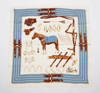 Harry's Horse Schal für Reiter Dimitra 70 x 70 cm reiterliche Prints 2 Farben