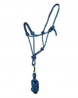 QHP Knotenhalfter-Set Halfter + Strick robustes Seil 6 Farben 3 Größen