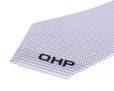 QHP Krawatte John weiß mit verd. RV diagonales Streifenmuster und QHP-Bestickung - Vorschau 4